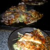 Letztes Abendessen Okonomiyaki