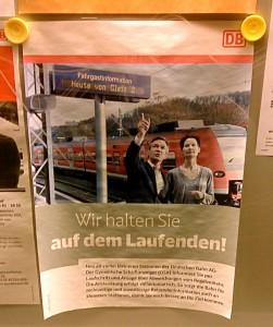 Plakat der deutschen Bahn